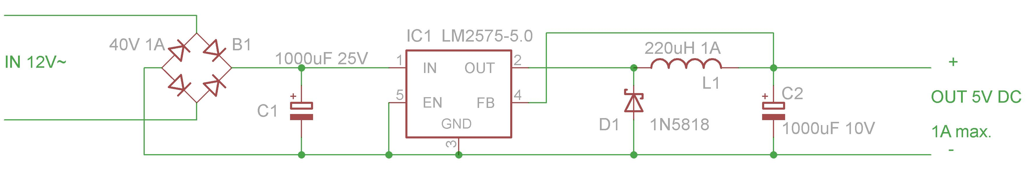 Transformerless Power Supply 12v 3a Circuit Diagram also Smps 5v 1a Circuit Diagram together with  on transformerless power supply from 220v with lm2575